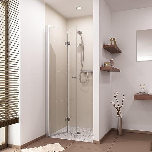 duschtr duschabtrennung falttr dusche nischentr b75 110cm h 200cm - Dusche Nischentur 60