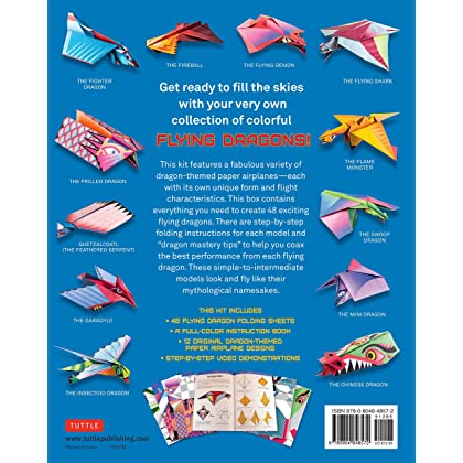 Flying Dragons Paper Airplane Kit 48 Airplanes 64 Page