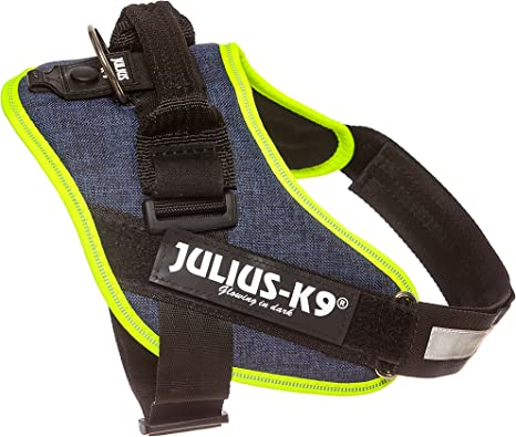 Julius K9 16idc Farne 0 Idc Powerharness Dog Harness Size 0 Jeans With Neon Edge Pet Supplies