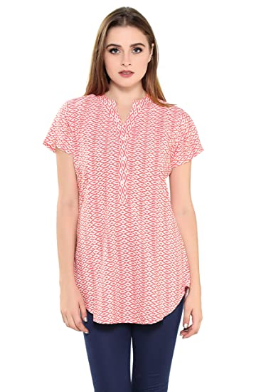 0eb5243b128 Demoda Women's Printed Nursing Top with Side Zip: Amazon.in: Clothing &  Accessories