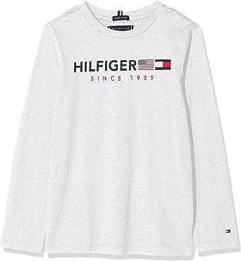 Tommy Hilfiger Flags Graphic tee L/S Camiseta para Niños