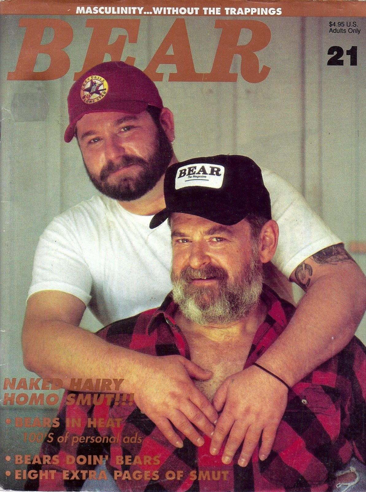 Naked Hairy Homo Smut l Mark Sessions l Adult Gay Male Interest - 1992 Bear  Magazine Issue #21 Single Issue Magazine – 1992