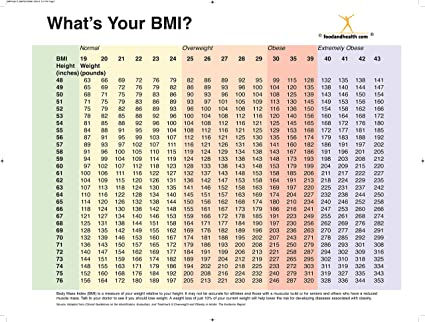 graphic about Printable Bmi Chart known as Vitamins Training Retailer BMI Chart Poster - BMI Index - 2 Sided