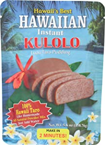 Kauai Tropical Syrup Hawaiian Instant Kulolo Luau Taro Pudding, 5.6 Ounce