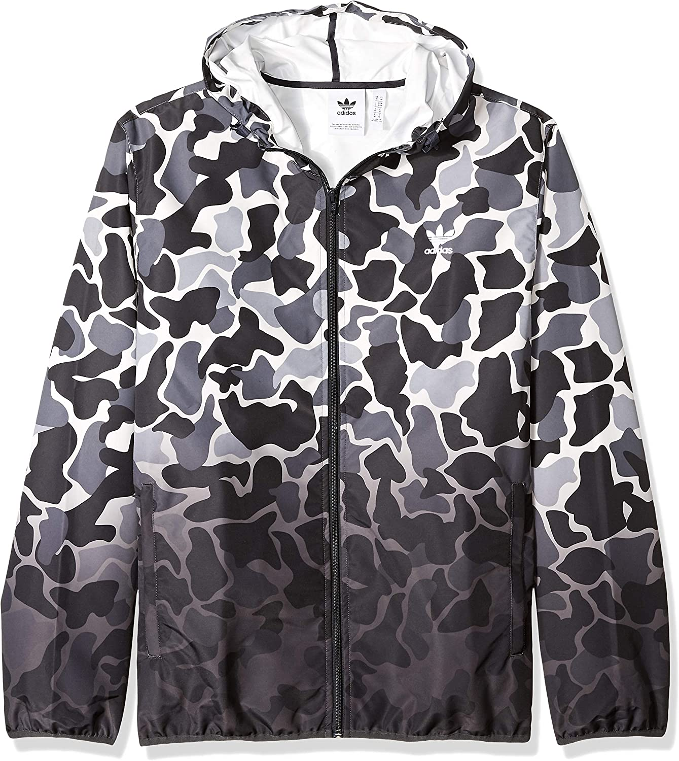 adidas Originals Men's Camo Dipped Windbreaker