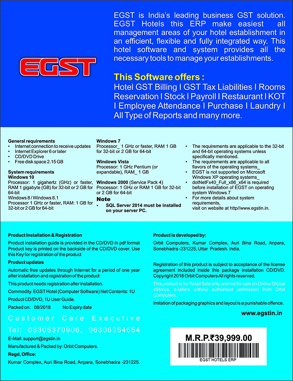EGST is India's leading business GST solution  EGST Hotels