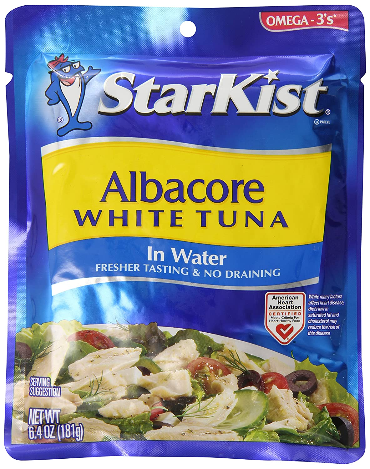 Starkist tuna in water pouch nutrition nutrition ftempo for Tuna fish nutrition