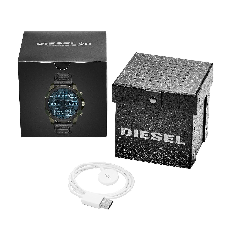 Diesel Homme Digital Montre avec Bracelet en Cuir DZT2003: Amazon.fr: Montres