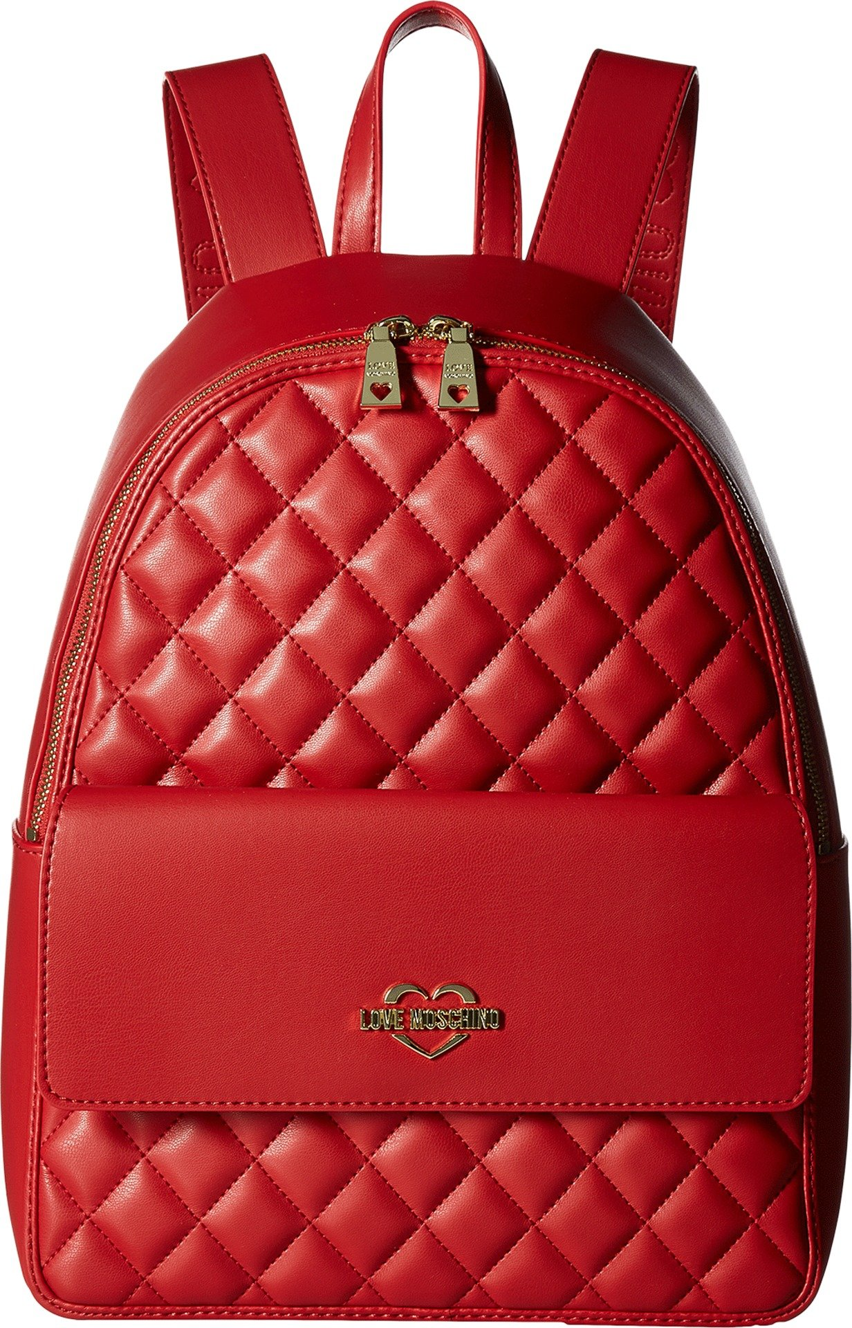 LOVE Moschino Women's Super Quilted Backpack Red One Size