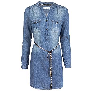 Hailys Damen Jeanskleid Hemdblusenkleid Longshirt Tunika Amazonde
