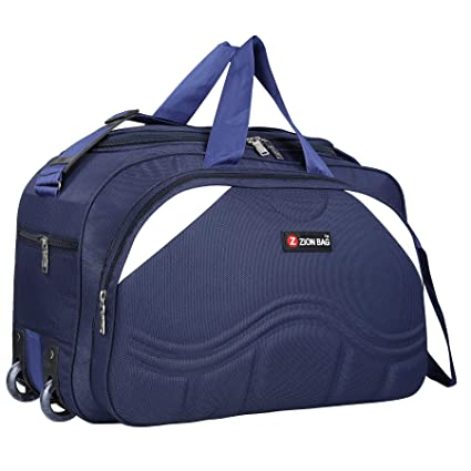 7c02871b2 Zion Bag Polyester Waterproof 40 L Zip Closure Blue Unisex Travel Duffel Bag  with 2 Wheels: Amazon.in: Bags, Wallets & Luggage