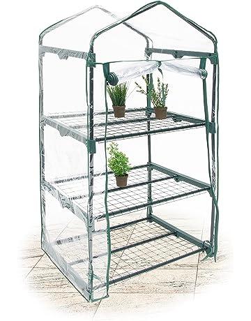 Relaxdays - Invernadero con Paredes transparentes, Metal y plástico, Ancho x Largo: 49.5