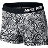"Nike Pro 3"" Women's Heights Vixen Compression Shorts (100 White, M)"