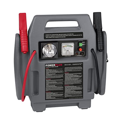 Powerplus, POWE80090 - Kit arrancador de coche y cargador de baterías portátil, 900 A