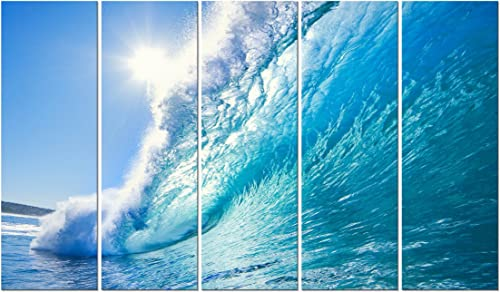 Wieco Art Canvas Prints Wall Art Sea Waves Pictures Paintings Ready to Hang