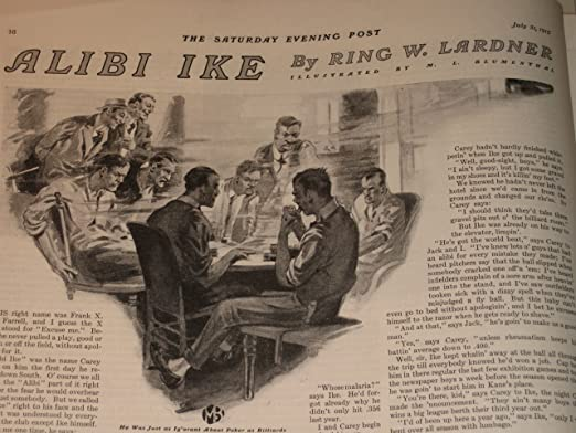 Image result for alibi ike by ring lardner