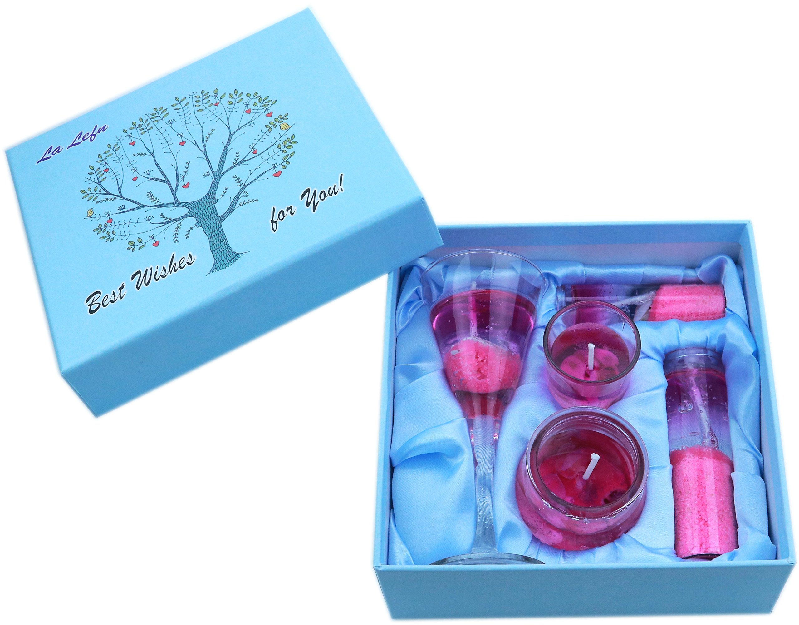 La LEFN Scented Candles,Smokeless&Ocean Shells Jelly Candles Sets for Christmas&Valentine Gifts (Pink Girl)