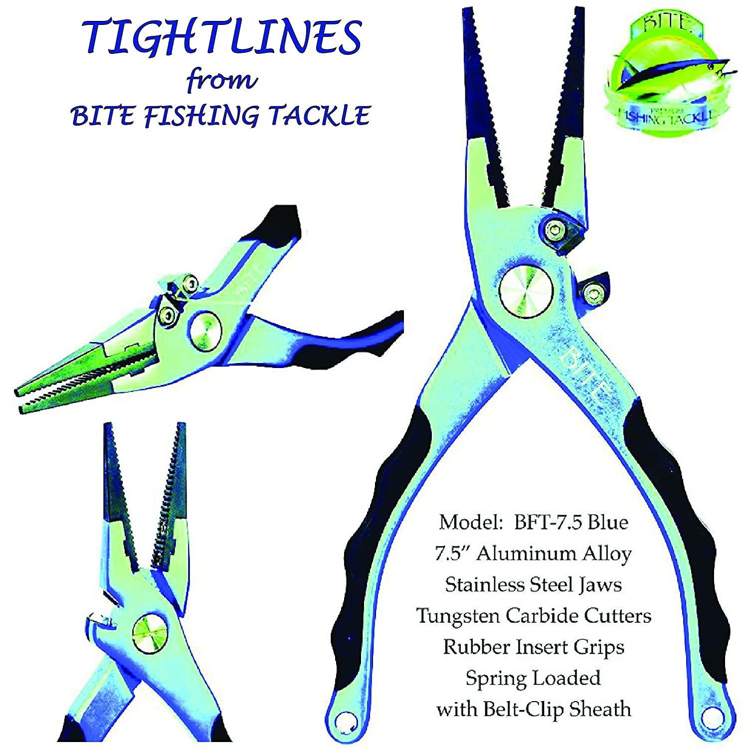BITE Professional Aluminum Fishing Pliers