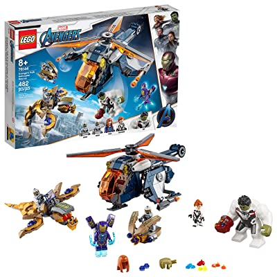 LEGO Marvel Avengers Hulk Helicopter Rescue 76144 Building Kit (482 Pieces),Multi: Toys & Games