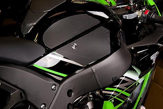 Eazi agarre Kawasaki ZX10R tanque Grips en negro 2011 - 2015: Amazon.es: Coche y moto