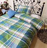 """Imperial Home Collection 100% Cotton Duvet Cover Single 60""""x86"""" with one Pillow Cover"""