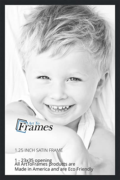 Amazon.com - ArtToFrames 23x35 inch Satin Black Picture Frame ...