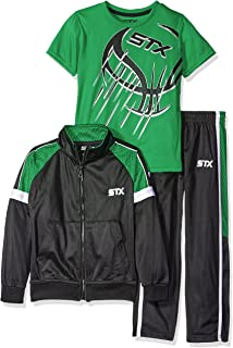 STX Boys 3 Piece Athletic Hoodie, T-Shirt and Pant Tracksuit STX Children's Apparel TT551