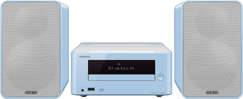 Onkyo CS-265-LB - Sistema mini (Bluetooth, NFC, USB frontal) color azul