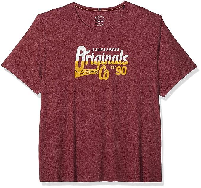 JACK & JONES Jorsizzle tee SS Crew Neck PS, Camiseta para Hombre, Rojo (
