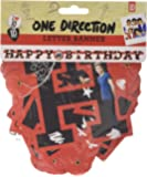 Amscan 1.7m x 11cm One Direction Happy Birthday Letter Banner