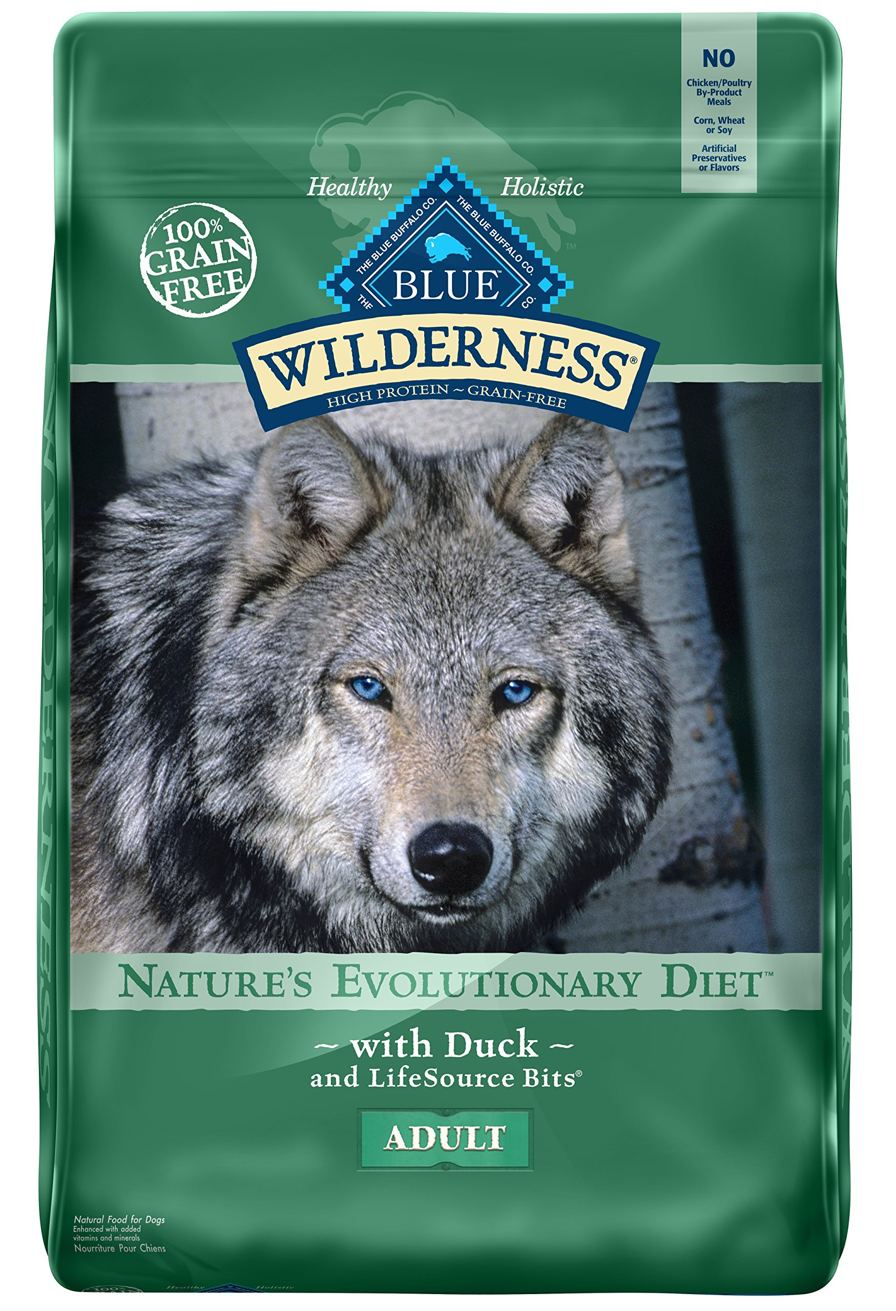 BLUE Wilderness Adult Grain Free Duck Dry Dog Food 24-lb