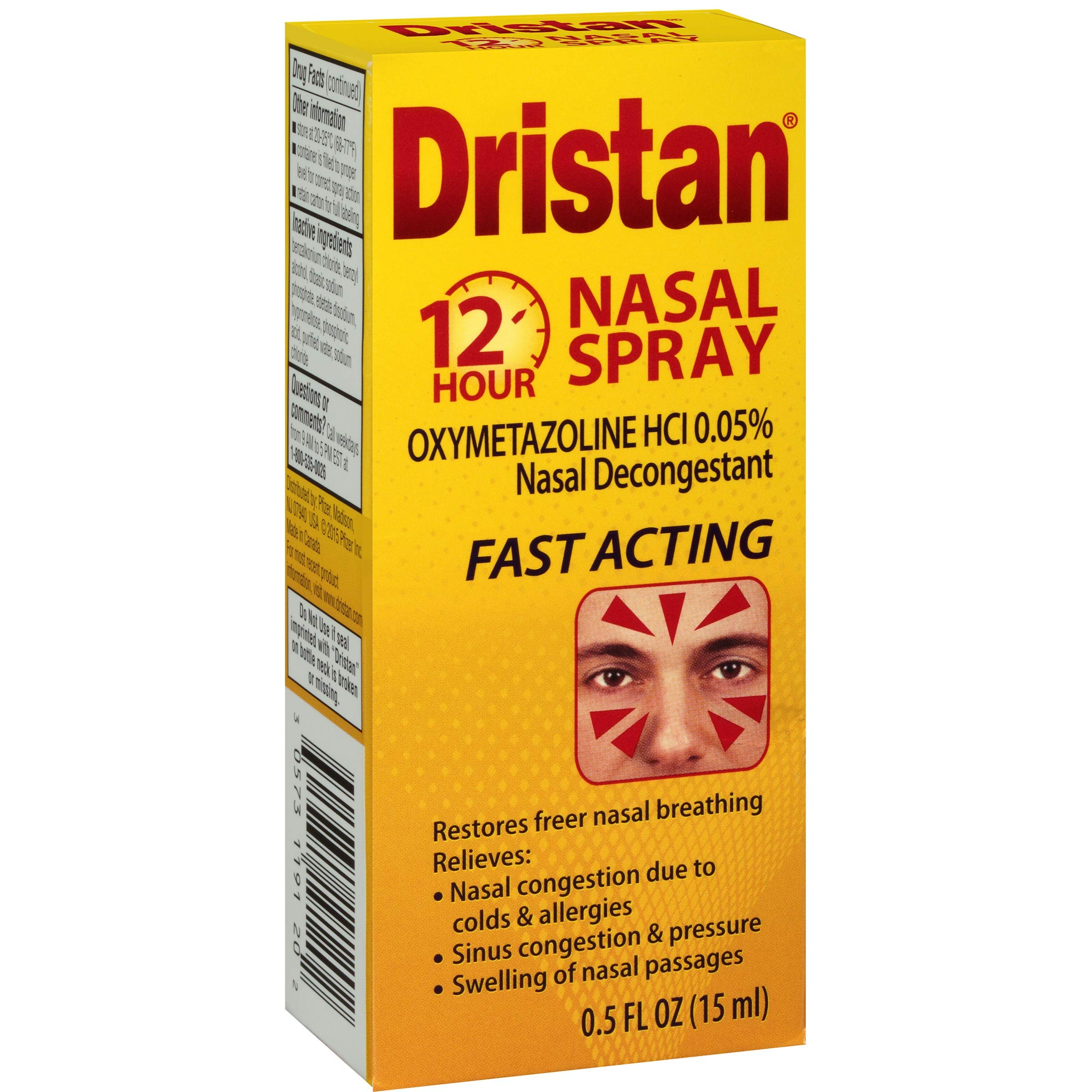 Dristan 12-Hour Nasal Spray 0.50 oz (Pack of 5) by Dristan