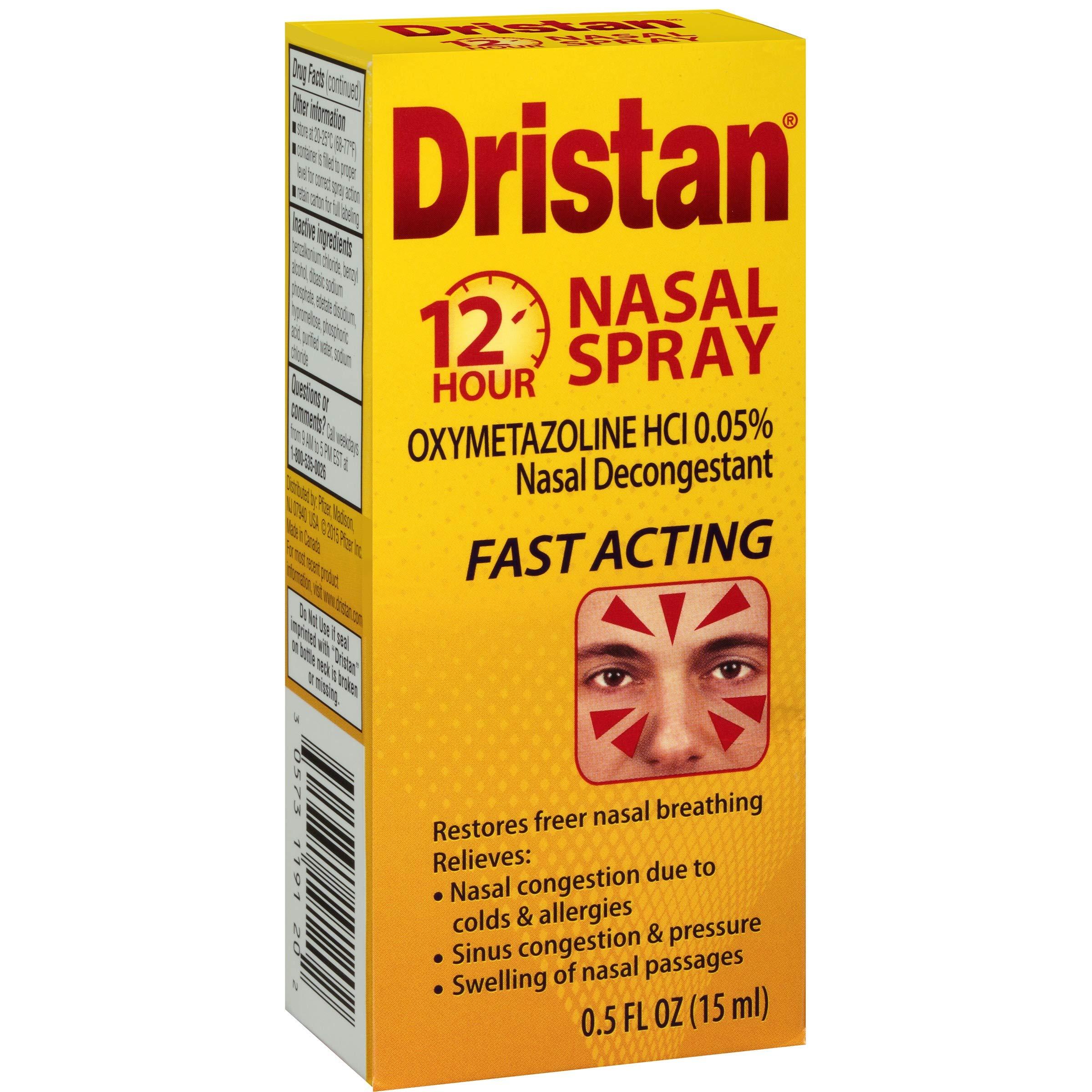 Dristan 12-Hour Nasal Spray 0.50 oz (Pack of 8)