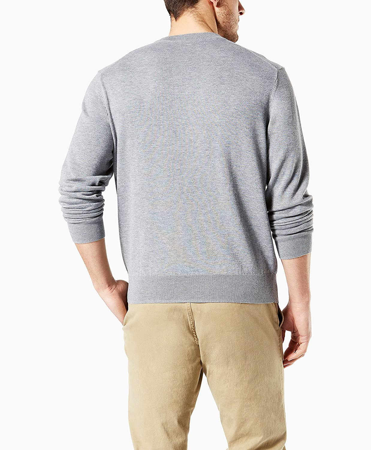 Dockers Mens Cotton Crewneck Long Sleeve Sweater