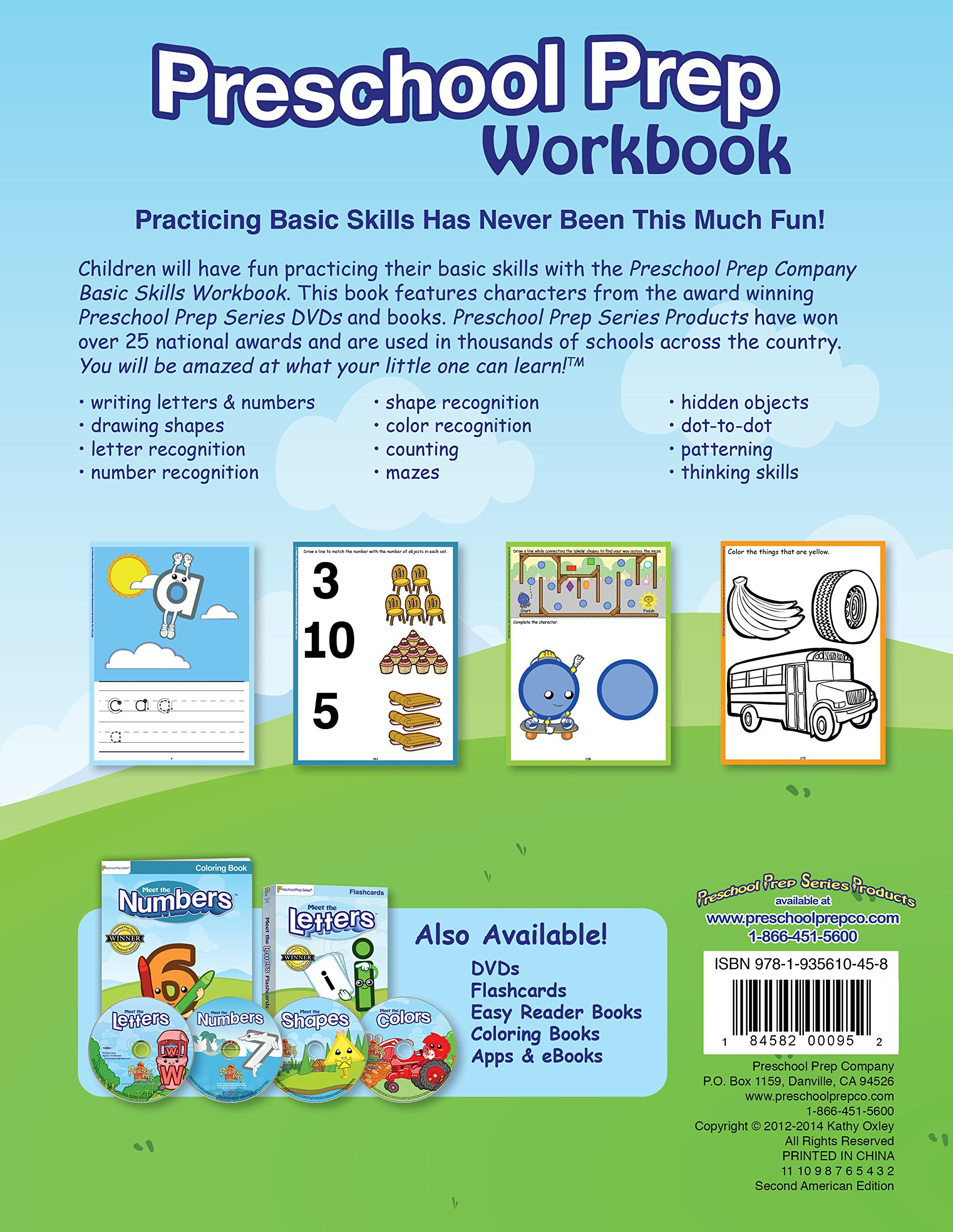 Preschool Prep Workbook (featuring characters from Meet the Letters ...