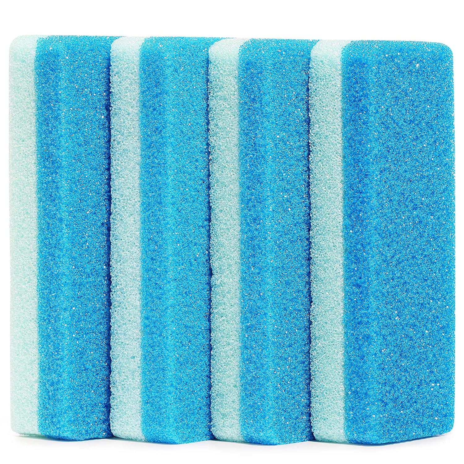 4 PCS Gift Packaged Foot Pumice Stone Scrubber for Hard Skin, Heavy Callused Feet, Dead Skin, 2 in 1 Pumice Stone for Feet, Heels, Hands and Body: Beauty