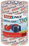 """tesa Packband""""Crystal Clear"""", kristall-klar, 3 Rollen, 66m x 50mm"""