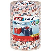 tesapack Crystal Clear - Kristalheldere verpakkingstape - Sterke PP-kwaliteit - Transparante pakketplakband - 3 rollen…