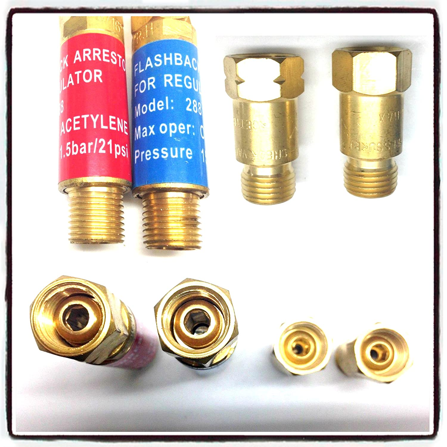 Explosion protection check valve 1 x Acetylene /& 1 x Oxygen Gas Safety
