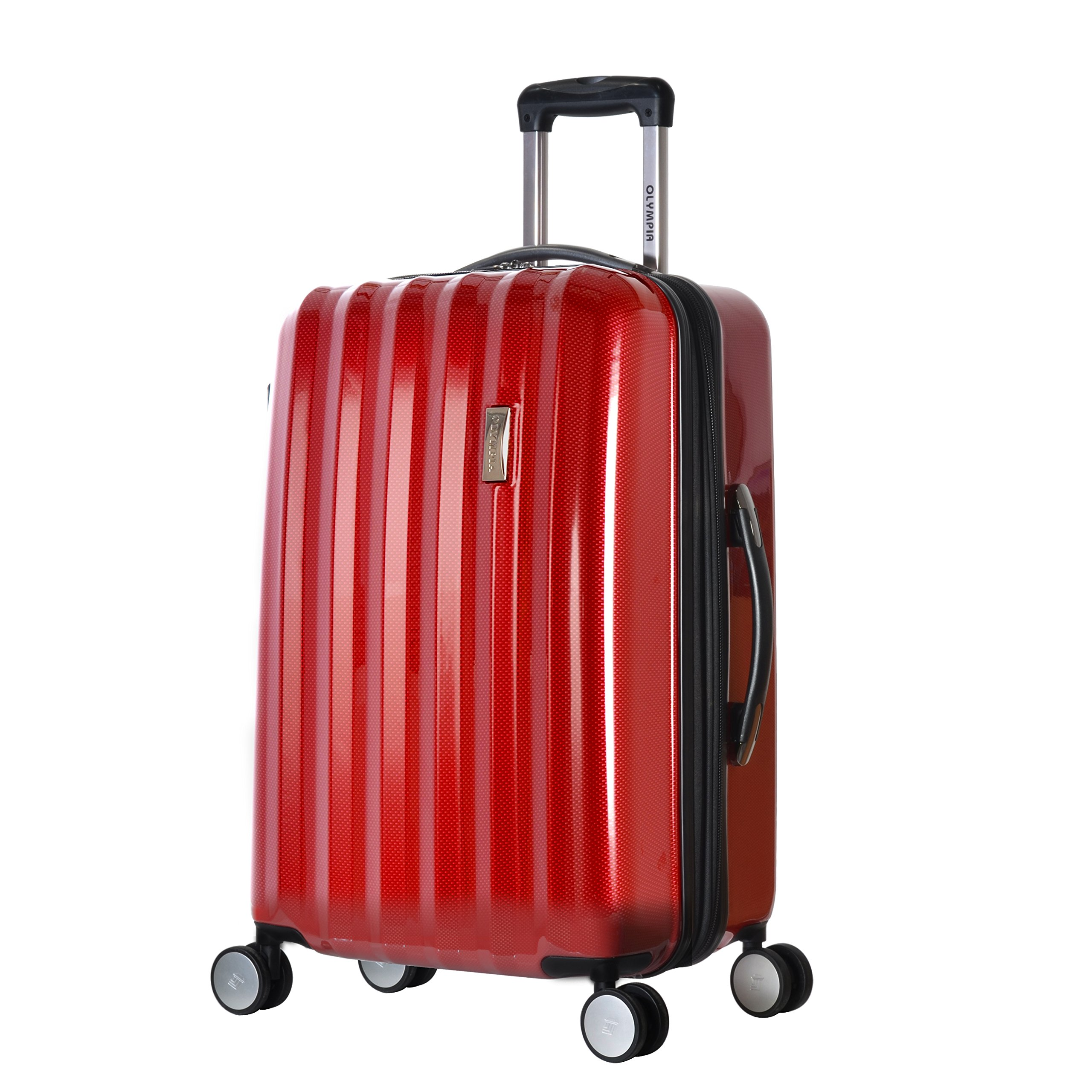 Olympia Titan 25 Inch Expandable Mid-Size Hard Case Spinner, Red, One Size