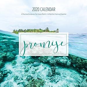 2020 Promise Calendar, Christian Wall Calendars, Photos, Bible Verses, Planner (12 x 12 inch) …
