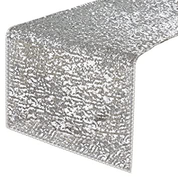 Exceptional PONY DANCE Rectangular Sparkling Sequins Table Runner Party/Wedding/Holiday Table  Runner For Banquet