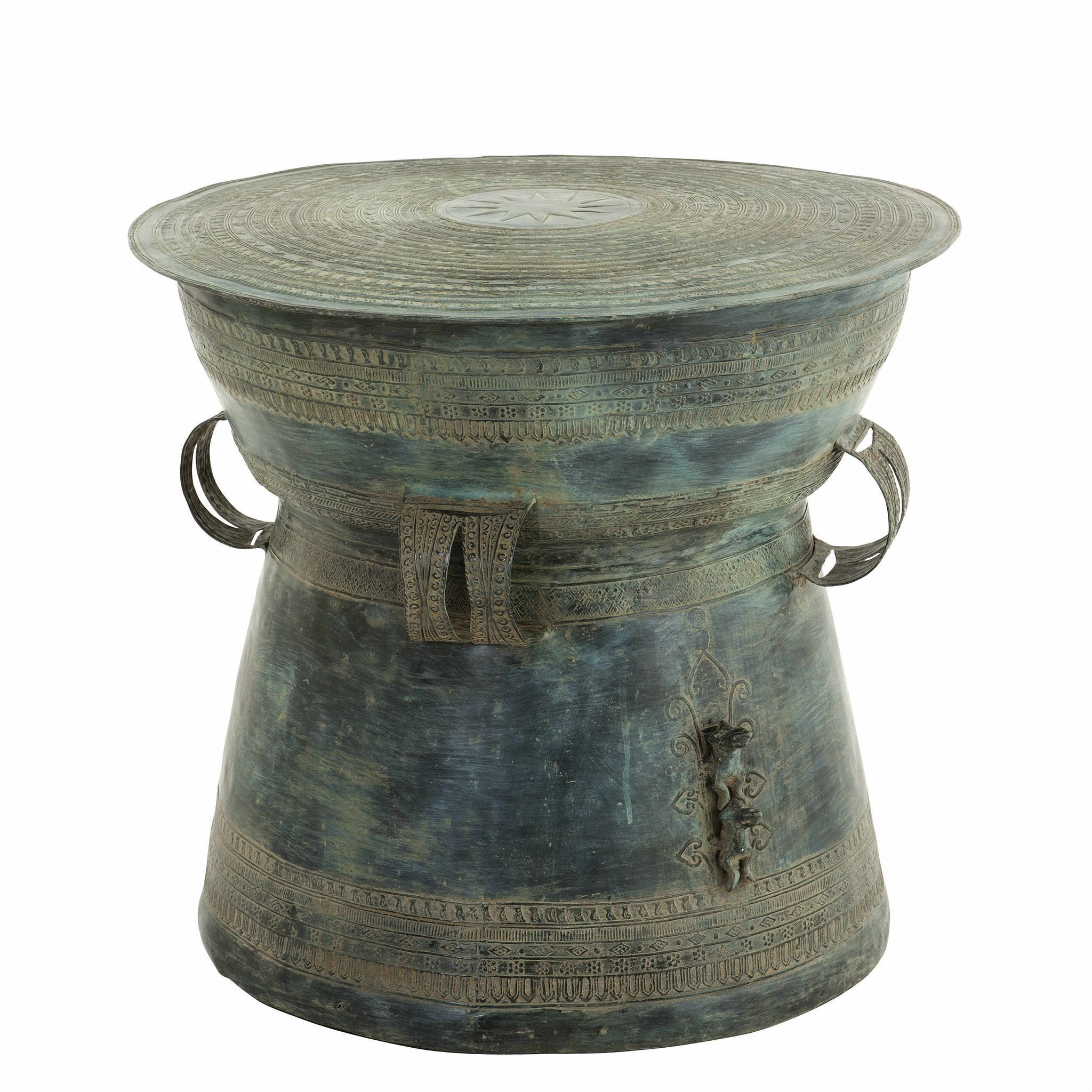 Antique Green Side Table | Eichholtz Drum Thai by Eichholtz