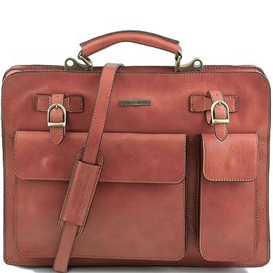 Serviette cuir - Miel Tuscany Leather IuNHo