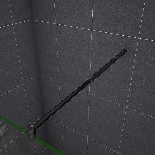 Mamparas de Ducha Pantalla Panel Fijo Perfil Negro Cristal Antical 8mm Barra 70-120cm - 90x200cm: Amazon.es: Bricolaje y herramientas