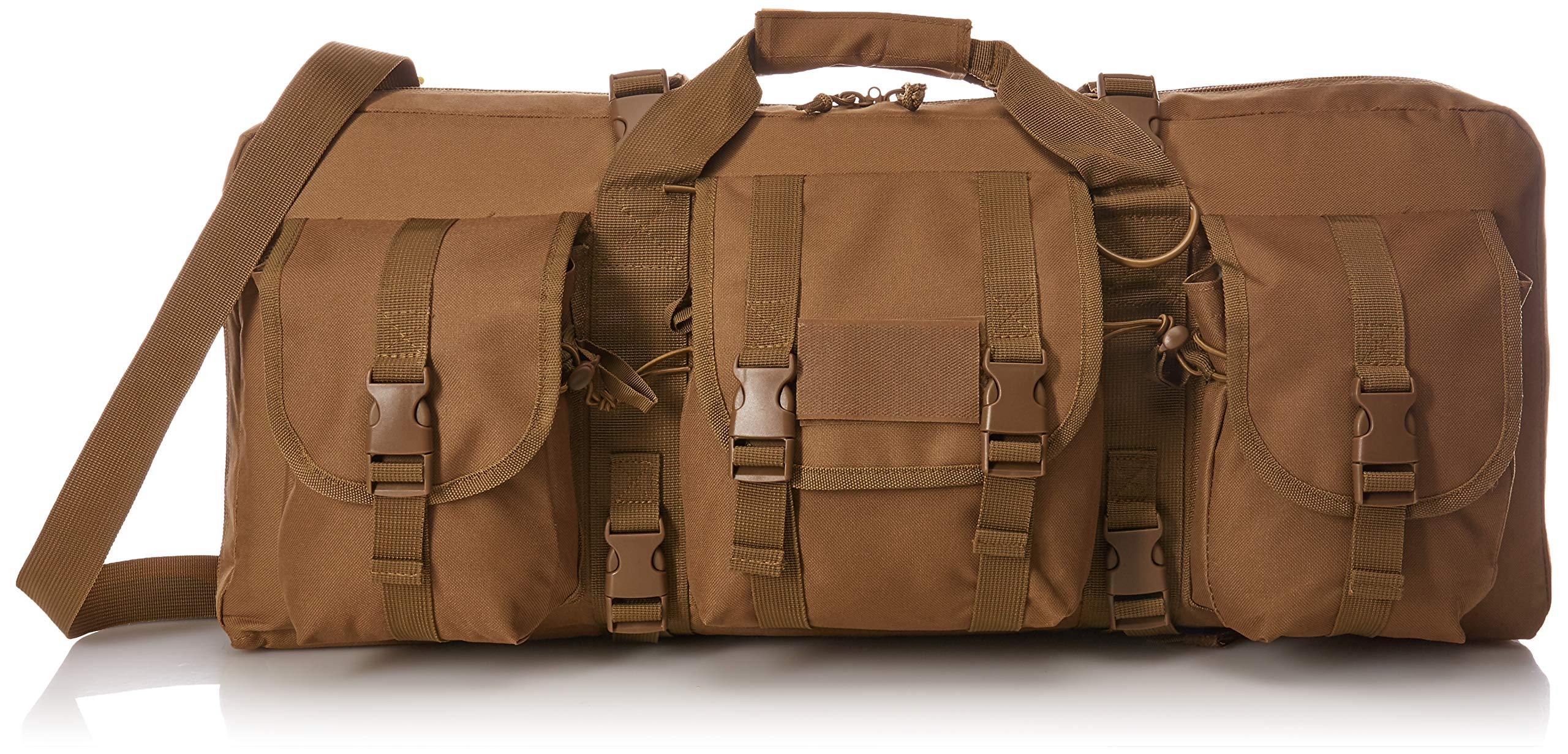 VISM by NcStar Deluxe Pistol and Subgun Gun Case with 3 Accessory Pockets, Tan, 28'' L x 13'' H by NcSTAR