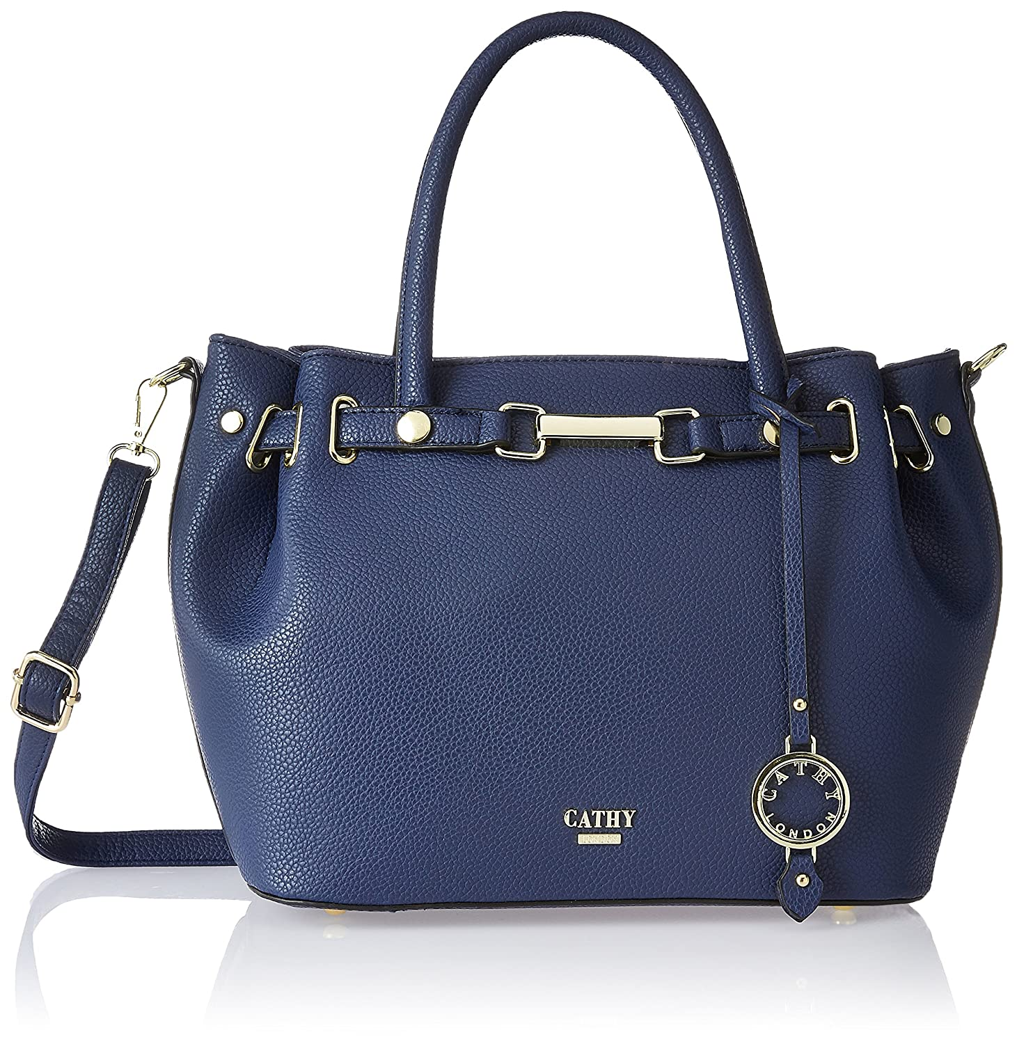afd1867562 Cathy London Women's Handbag, Colour- Blue, Material- Synthetic Leather:  Amazon.in: Shoes & Handbags
