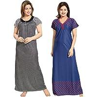 TUCUTE Women sarina Pack Of 2 Night Dress