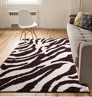 Amazon.com: Large Luxury Navy 8x12 Zebra Rugs for Living Room 8x11 ...