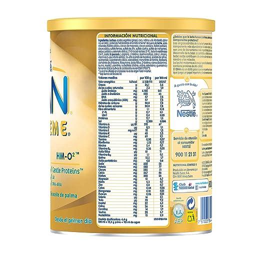 NAN SUPREME 1 - Desde el primer día - Leche para lactantes en polvo Premium - Fórmula para bebé - 800g: Amazon.es: Alimentación y bebidas